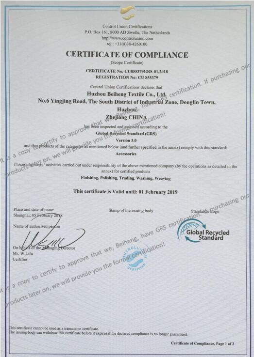 certificado grs