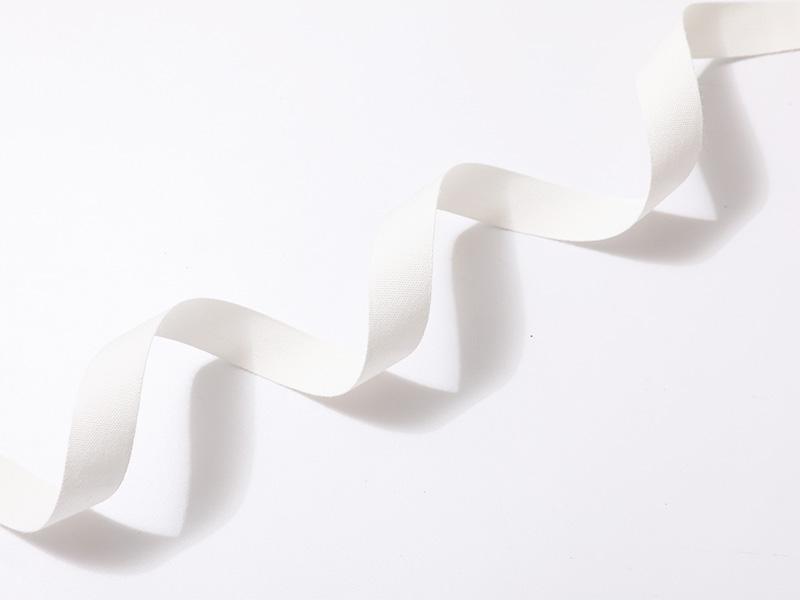 Tejido de tafetán de algodón de borde en color blanco