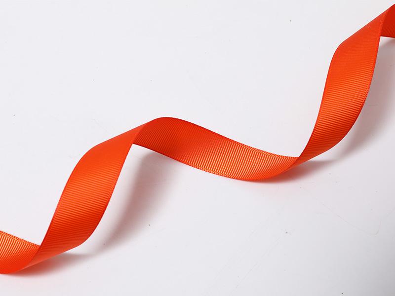 Tejido Edge poliéster Grosgrain en naranja rojo